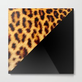 Leopard skin with black color II Metal Print