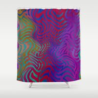 vertigo Shower Curtains featuring Vertigo by RingWaveArt