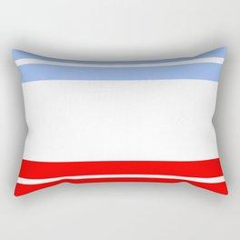 TEAM COLORS 9...Red,light blue, white Rectangular Pillow