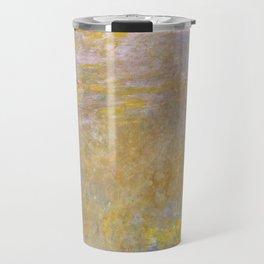 Sea-Roses (Yellow Nirwana) by Claude Monet Travel Mug