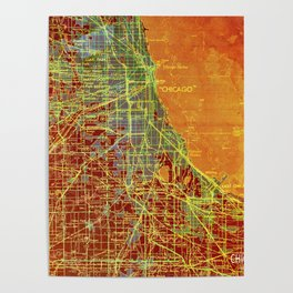 Us Maps Posters Society6