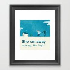 She ran away Framed Art Print