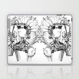 Flowered ATST Black and White Laptop & iPad Skin