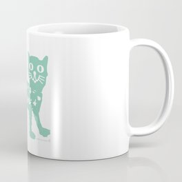 Mint cat drawing, cat drawing Coffee Mug