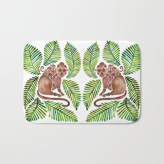 Monkey Cuddles – Tropical Green Bath Mat
