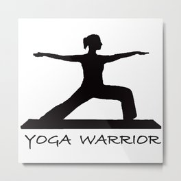 Yoga Warrior 2 Metal Print