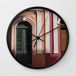 two houses in Puerto Rico Wall Clock