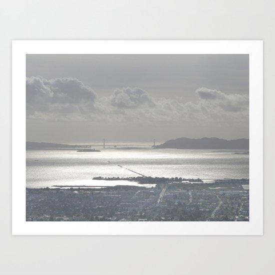 Gray in the Bay Art Print