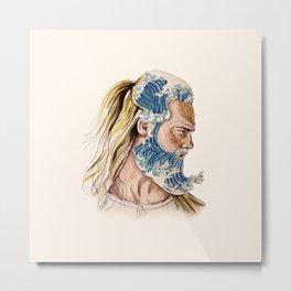 King of waves Metal Print