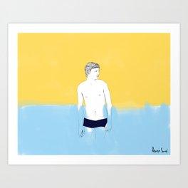 Sur la planche #01 Art Print