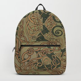 Celtic Greyhounds - Natural Green Backpack