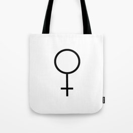 woman's symbol 1 – Black and white Tote Bag
