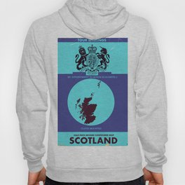 Vintage map cover of Scotland. Hoody