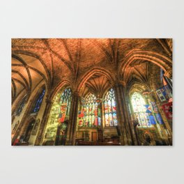 Winter Sun Cathedral Canvas Print