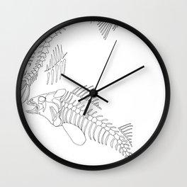 fish bones Wall Clock
