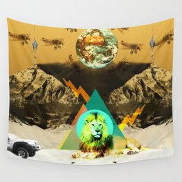 African lion Wall Tapestry