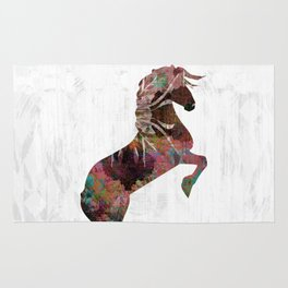 Abstract Dusty Rose Horse Rug