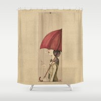 umbrella Shower Curtains featuring Umbrella by Mariana Baldaia