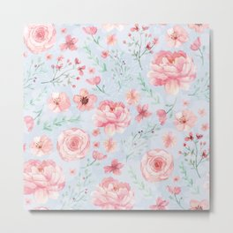 Calm and Sweety Floral Metal Print
