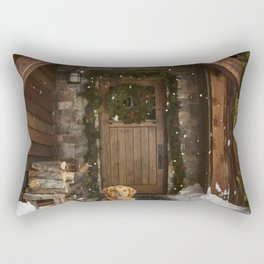 Dog and snow Rectangular Pillow