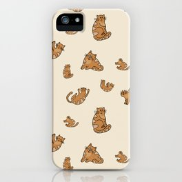 Simple and Elegant Cats Pattern iPhone Case