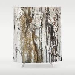 White Decay II Shower Curtain