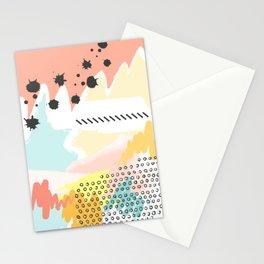 mininal century brush painted 2 Stationery Cards