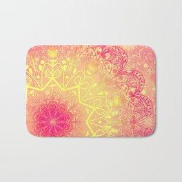 Mandala in Rose and Lemon Bath Mat