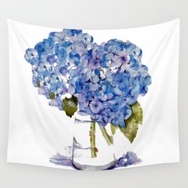 Cape Cod Hydrangea Large Canvas Wall Tapestry