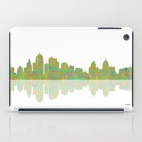 kansas city iPad Cases featuring Kansas City Skyline by Marlene Watson