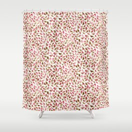 House Finch Pattern Shower Curtain