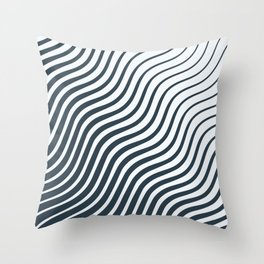 Waves - Lines Throw Pillow