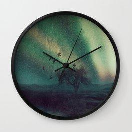 aurora borealis - silence  Wall Clock
