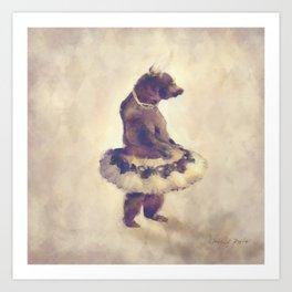 TuTu Bear Art Print