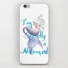 Secretly a Mermaid iPhone & iPod Skin
