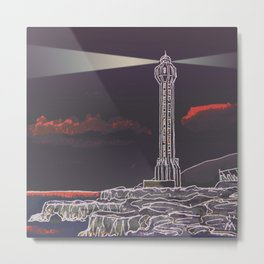 Lighthouse / Punta Lava La Palma Metal Print