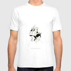 Interstellar White Mens Fitted Tee SMALL