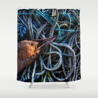 tangled Shower Curtains featuring Tangled by Caroline Benzies Photography