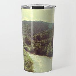 Between Mountains  Travel Mug