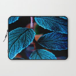 Peacock Blue Leaves Nature Background #decor #society6 #buyart Laptop Sleeve