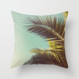 Autumn Palms Throw Pillow