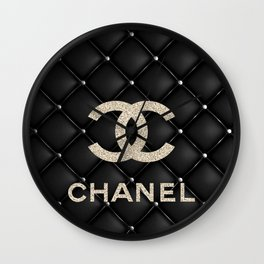 Glitter COCO Quilted Leather Wall Clock