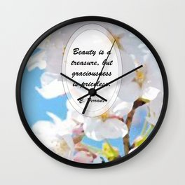 Flora series_Cinderella Wall Clock