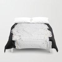 black white Duvet Covers featuring Black, White & White by RvHART