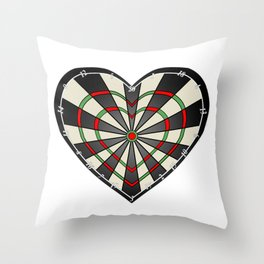 Don't use my heart as a Dartboard Throw Pillow