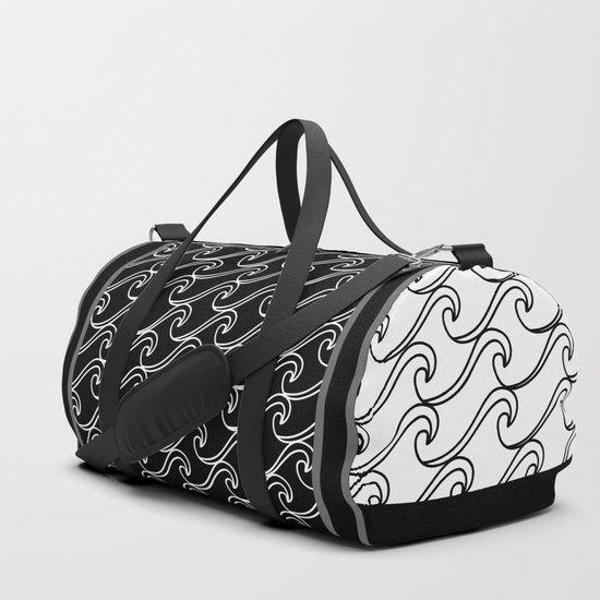 Rough Sea Pattern - black on white by xooxoo