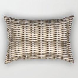 Closeup rattan wickerwork texture Rectangular Pillow