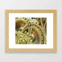 Industrial Steam Punk Cogwheels Framed Art Print