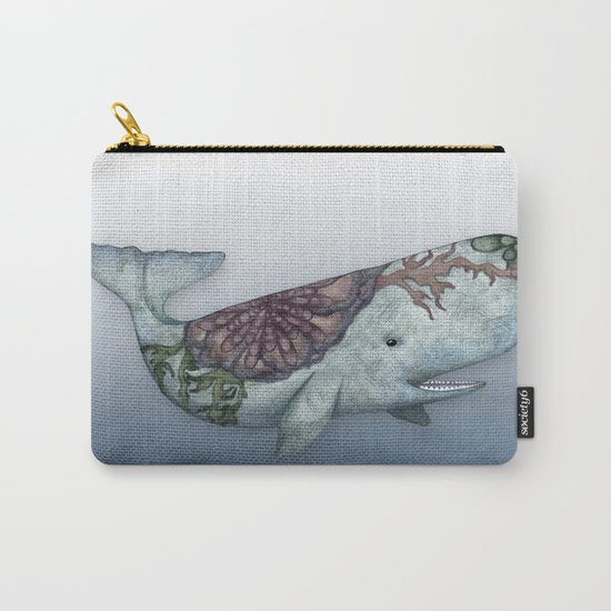 Whale in the Deep - a hand drawn illustration Carry-All Pouch