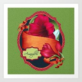 Tropical Amaryllis Art Print